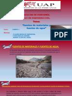 Expocicion Fuentes de Materiales y Fuentes de Agua