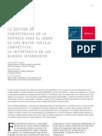 LA GESTIÓN DE COMPETENCIAS EN LA EMPRESA PARA EL LOGRO DE UNA MAYOR VENTAJA COMPETITIVA. LA IMPORTANCIA DE LOS MANDOS INTERMEDIOS