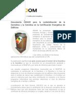 Documento CEDOM Para La Contabilización de La Domótica y La Inmótica en La Certificación Energética de Edificios