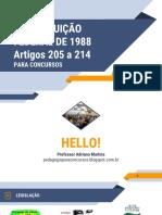Artigos 205 a 214 PARA CONCURSOS - Aula 01 - Introdução