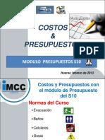 Costos y Presupuestos Con S10