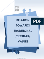 Relation Towards Traditional Secular Values