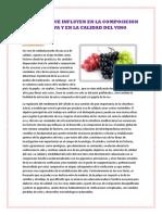 Factores Que Influyen en La Composicion de La Uva y en La Calidad Del Vino