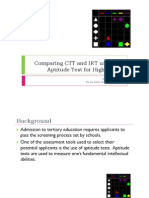 Comparing CTT and IRT Using the Aptitude Test