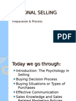 Personal Selling - Session 2