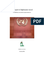 The report of diplomatic travel of Habilian association representatives