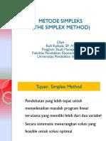 Metode Simpleks (Simplex Methods)