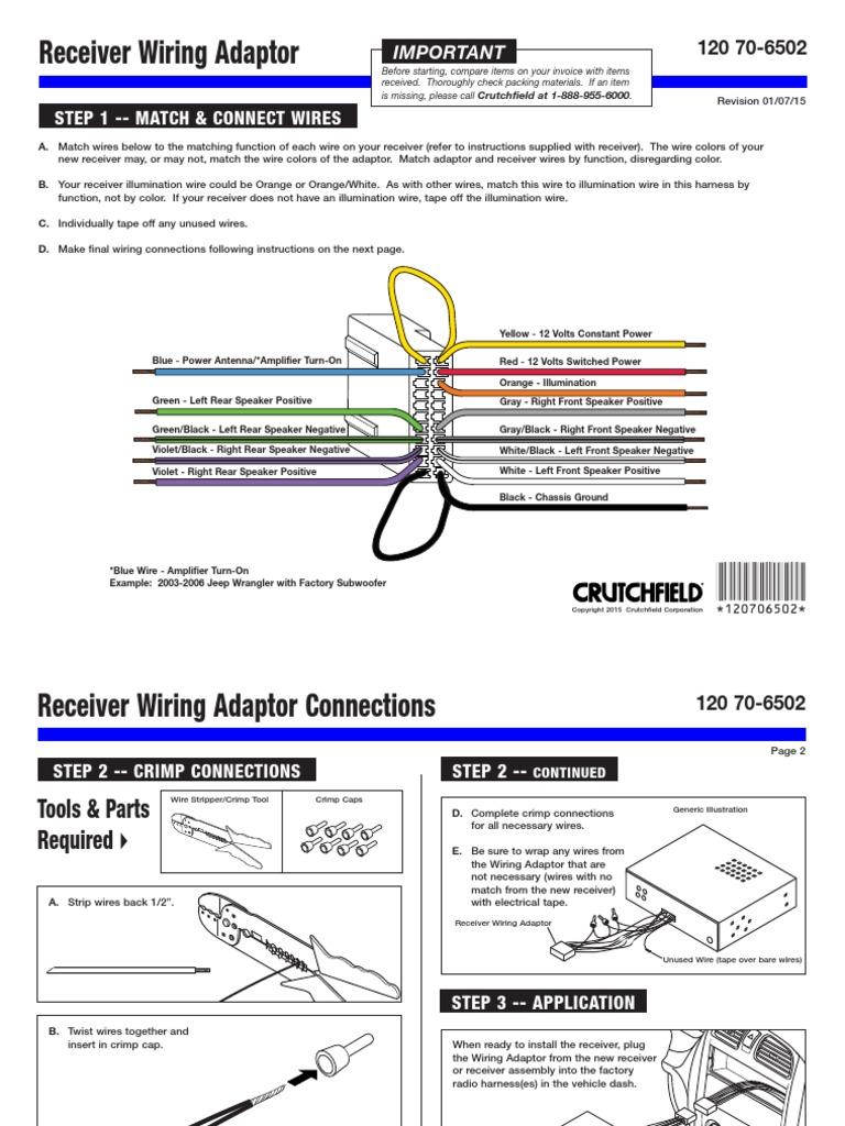 Metrawireharness 120706502 Loudspeaker Electrical Wiring Jeep Wrangler Rear Subwoofer