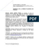 Escrito Libertad de Vehículo Jaime Vaca