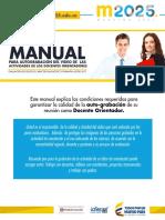 Manual Para Autograbacion Del Video de Las Actividades de Los Docentes Orientadores