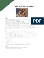 Commedia Dell'Arte Overview