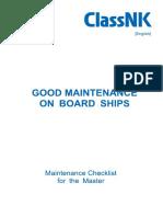 Good Maintenance on Board Ships e2017