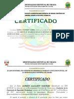 Modelo de Certificado Trabajo