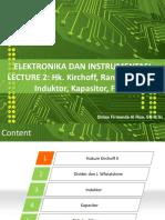 2. Hk Kirchoff II, Voltage Divider, Induktor, Kapasitor, Filter