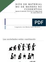 DIFUSIÓN DE MATERIAL ÍNTIMO DE MANERA NO CONSENTIDA
