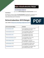 Schoolvakanties Belgie - Exacte Datums Op Kalender
