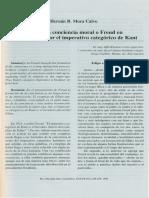 Freud y La Conciencia Moral o Freud en Breve Excurso Por El Imperativo Categorio de Kant