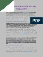 03. Dos Estudios Exploran La Eficacia de La Terapia Online