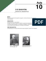 Saussure e Bakhtin Os Descaminhos Da Linguistica