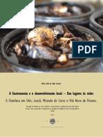 A Importancia Da Gastronomia No Desenvolvimento Local