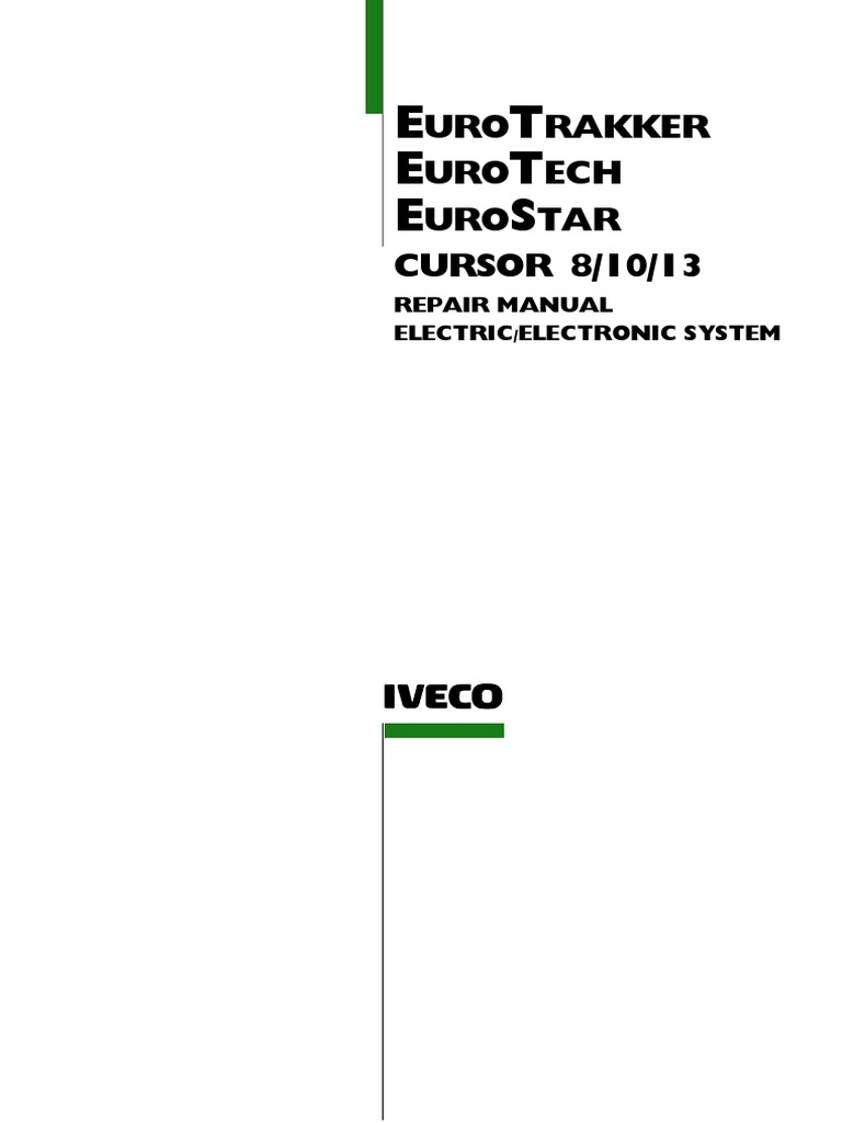 Iveco - Euro Trakker-star-tech - Electrical Repair Manual | Electrical  Connector | Relay