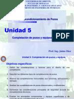 Unidad 5 Completación de Pozos y Equipos de Completación