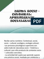 APRENDIZAJE SOCIALIZADO