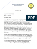 ICE Letter to President Trump