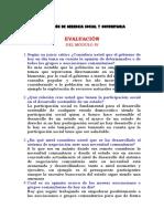 Evaluación de Gerencia Social y Comunitaria IV-Viii