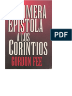 1ra. Epistola a Los Corintios Gordon Fee