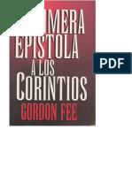 1ra. Epistola a Los Corintios Gordon Fee