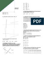 Evalución de Matemáticas 8c Numero 3