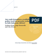 OPM Working Paper 2014-4 - Are Cash Transfers a Realistic Policy Tool for Poverty Reduction