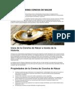 Crema Concha de Nacar