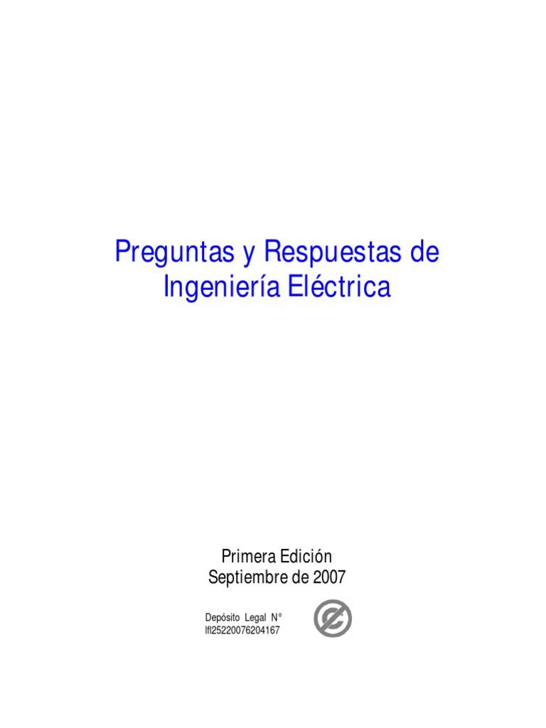 Libro Preguntas y Respuestas de Ingenieria Electrica