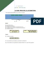 Cálculo de Locomotoras