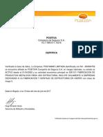Certificado Arl