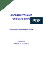 NK Good Maintenance on Board Ships e