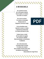 Poema a Mi Escuela