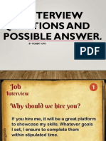 Job Interview Questions and Possible Answer RHGP