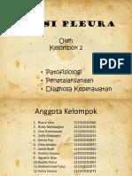 Kelompok 2 (Patologi, Penatalaksanaan, Dan Diagnosa Efusi Pleura)
