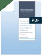 Proyecto Para La Creación de Una Heladería Buffet en La Ciudad de Riobamba