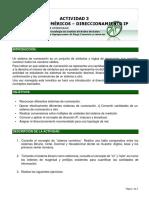 Actividad 3 Sistemas Numéricos y Direccionamiento IP