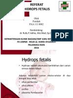 Ppt Referat Hydrops Fetalis.2
