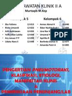 Kelompok 3 (Pengertian, Manifestasi, Pemeriksaan Penunjang Pneumothorax)