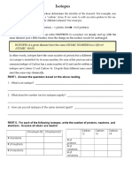 d. Isotopes Worksheet