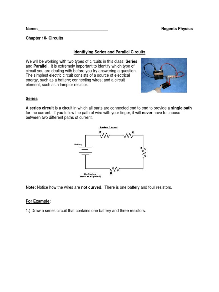 Circuits Notes 3 Series And Parallel Circuits1 Wiring Resistors In Electric Current