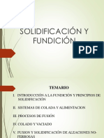 Solidificación y Procesos de Fundición