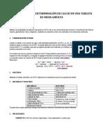 Determinación Ca2+ en Medicamento
