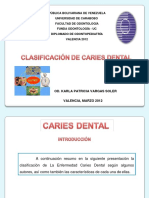 clasificacion de caries dental